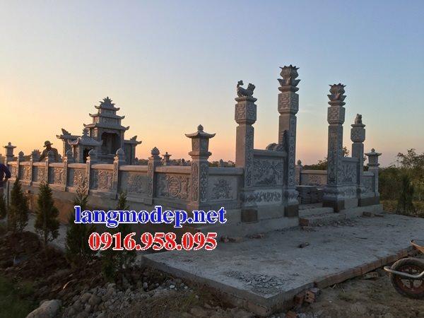 Xây nghĩa trang gia đình dòng họ bằng đá ninh bình đẹp
