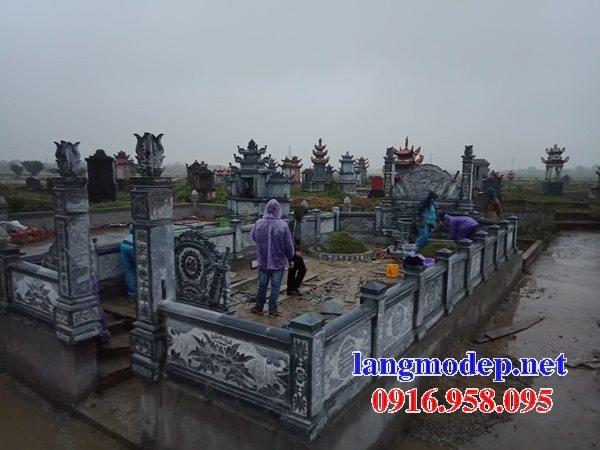 Xây thiết kế nghĩa trang gia đình dòng họ bằng đá đẹp