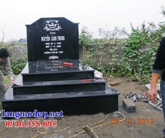 39 Mẫu mộ đá hoa cương kim sa nguyên khối đẹp bán tại bắc kạn