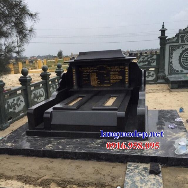 39 Mẫu mộ đá hoa cương kim sa nguyên khối đẹp bán tại hòa bình