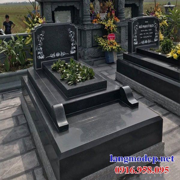 39 Mẫu mộ đá hoa cương kim sa nguyên khối đẹp bán tại ninh bình