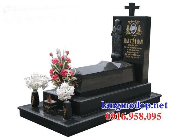 39 Mẫu mộ đạo thiên chúa giáo bằng đá hoa cương nguyên khối đẹp