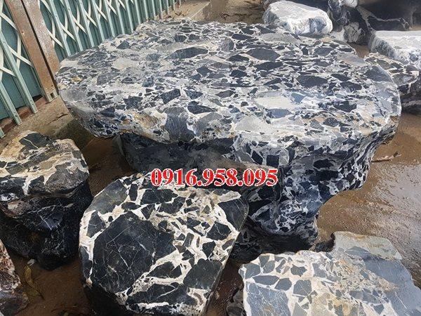 100 Mẫu bộ bàn ghế đá tự nhiên đẹp nguyên khối bán tại đồng nai