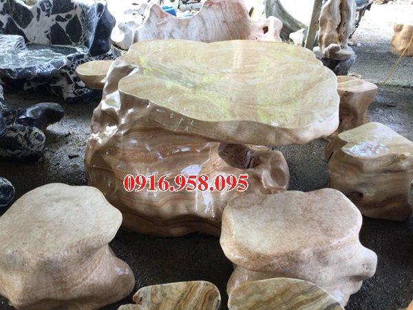 100 Mẫu bộ bàn ghế đá tự nhiên đẹp nguyên khối bán tại đồng tháp