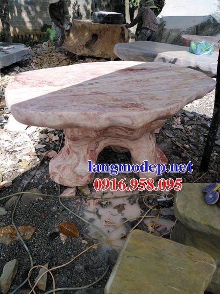 100 Mẫu bộ bàn ghế đá tự nhiên đẹp nguyên khối bán tại điện biên