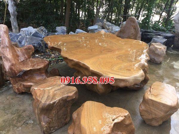 100 Mẫu bộ bàn ghế đá tự nhiên đẹp nguyên khối bán tại bà rịa vũng tàu