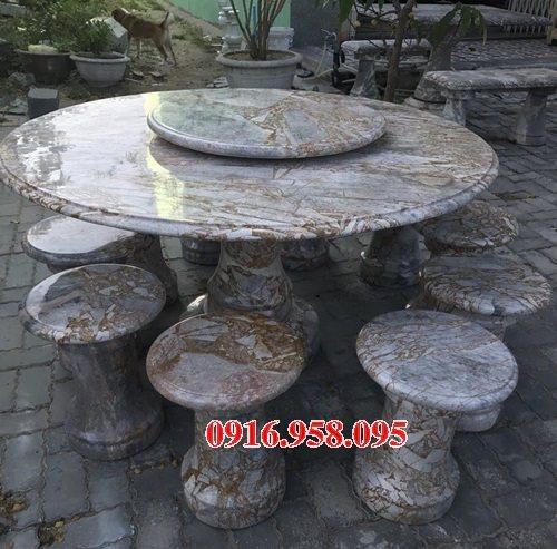 100 Mẫu bộ bàn ghế đá tự nhiên đẹp nguyên khối bán tại bình định
