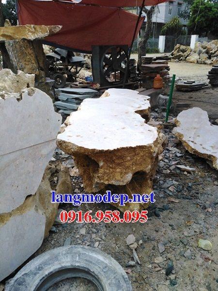 100 Mẫu bộ bàn ghế đá tự nhiên đẹp nguyên khối bán tại bình thuận