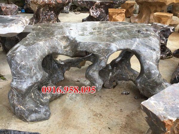 100 Mẫu bộ bàn ghế đá tự nhiên đẹp nguyên khối bán tại bạc liêu