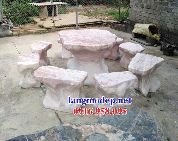 100 Mẫu bộ bàn ghế đá tự nhiên đẹp nguyên khối bán tại bắc giang