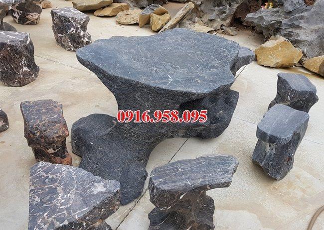 100 Mẫu bộ bàn ghế đá tự nhiên đẹp nguyên khối bán tại bắc kạn