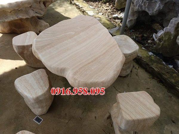 100 Mẫu bộ bàn ghế đá tự nhiên đẹp nguyên khối bán tại bắc ninh