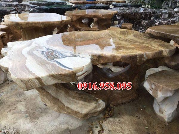 100 Mẫu bộ bàn ghế đá tự nhiên đẹp nguyên khối bán tại cà mau