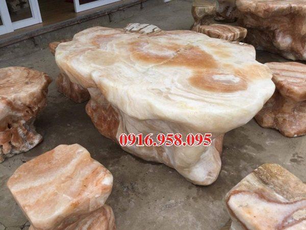 100 Mẫu bộ bàn ghế đá tự nhiên đẹp nguyên khối bán tại cần thơ