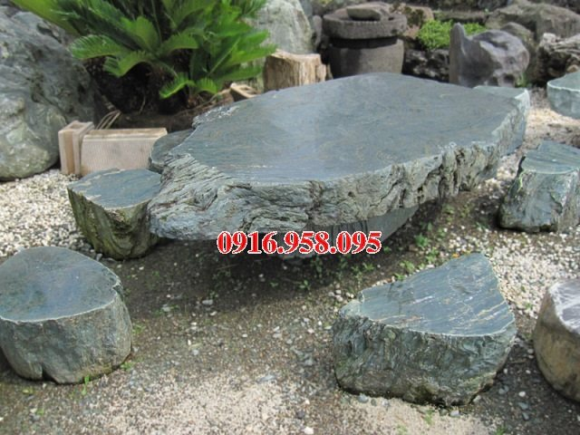 100 Mẫu bộ bàn ghế đá tự nhiên đẹp nguyên khối bán tại hà tĩnh