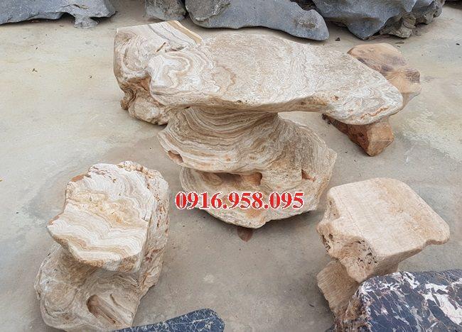 100 Mẫu bộ bàn ghế đá tự nhiên đẹp nguyên khối bán tại hải phòng