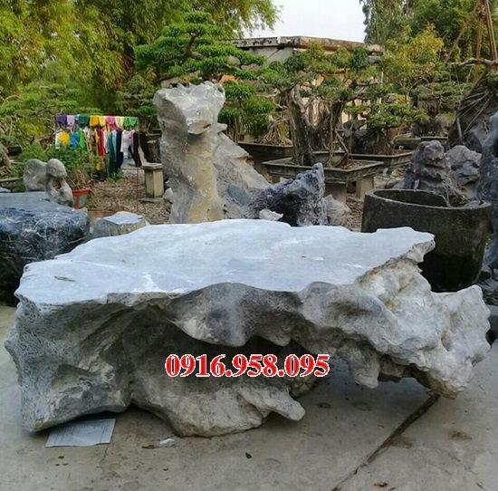 100 Mẫu bộ bàn ghế đá tự nhiên đẹp nguyên khối bán tại lào cai