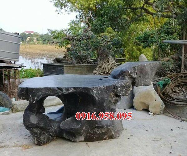 100 Mẫu bộ bàn ghế đá tự nhiên đẹp nguyên khối bán tại lai châu