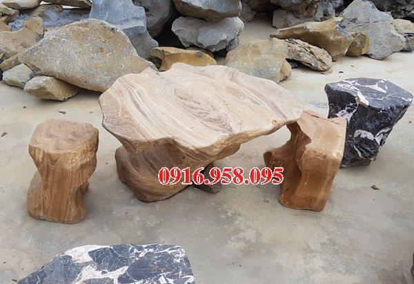 100 Mẫu bộ bàn ghế đá tự nhiên đẹp nguyên khối bán tại nam định