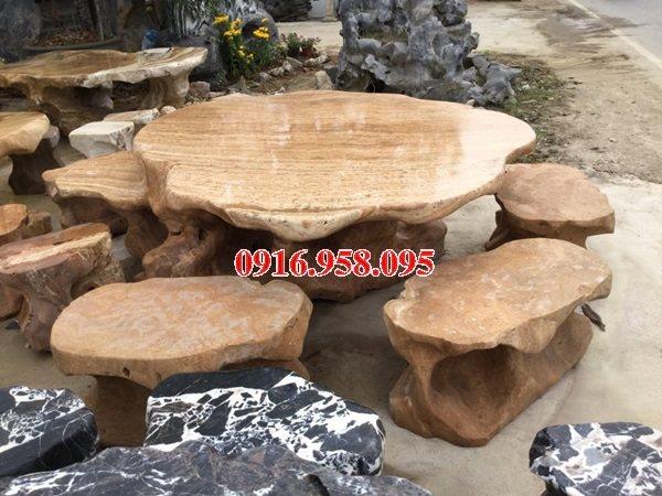 100 Mẫu bộ bàn ghế đá tự nhiên đẹp nguyên khối bán tại ninh bình