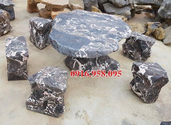 100 Mẫu bộ bàn ghế đá tự nhiên đẹp nguyên khối bán tại quảng ninh