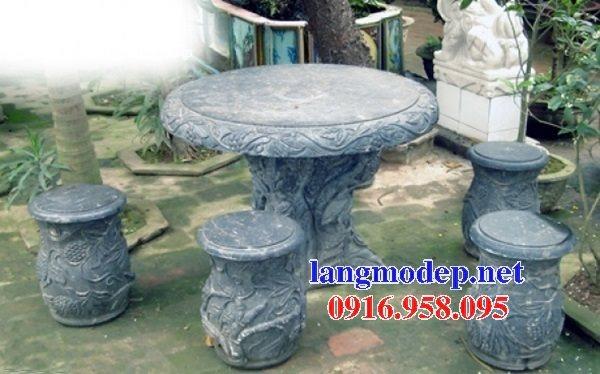 100 Mẫu bộ bàn ghế đá tự nhiên đẹp nguyên khối bán tại quảng trị
