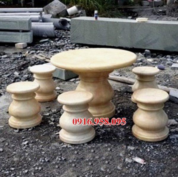 100 Mẫu bộ bàn ghế đá tự nhiên đẹp nguyên khối bán tại sài gòn