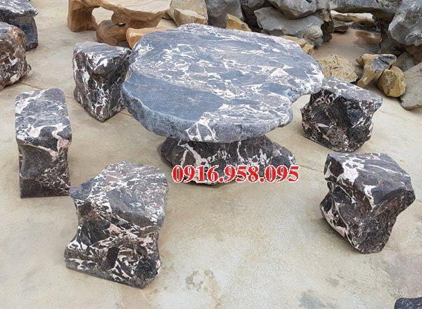 100 Mẫu bộ bàn ghế đá tự nhiên đẹp nguyên khối bán tại thái nguyên
