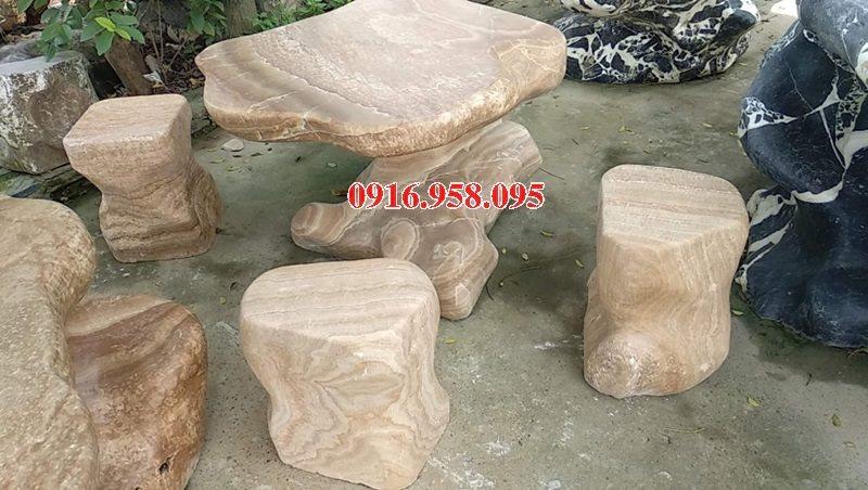 100 Mẫu bộ bàn ghế đá tự nhiên đẹp nguyên khối bán tại thanh hóa