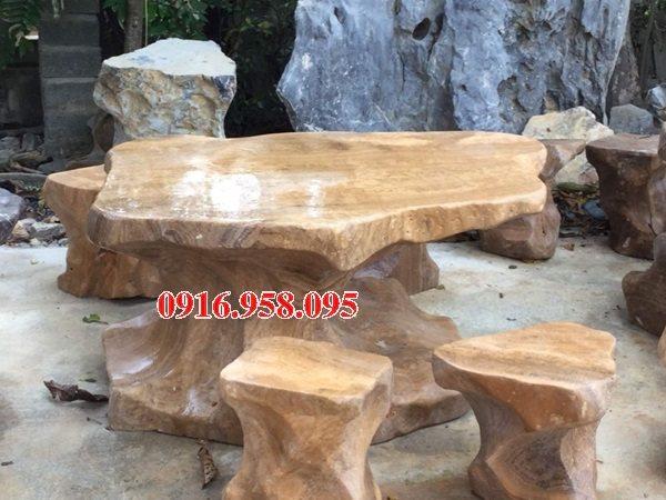 100 Mẫu bộ bàn ghế đá tự nhiên đẹp nguyên khối bán tại tp hồ chí minh