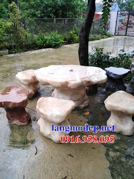 100 Mẫu bộ bàn ghế đá tự nhiên đẹp nguyên khối bán tại tuyên quang