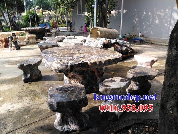 100 Mẫu bộ bàn ghế đá tự nhiên đẹp nguyên khối bán toàn quốc