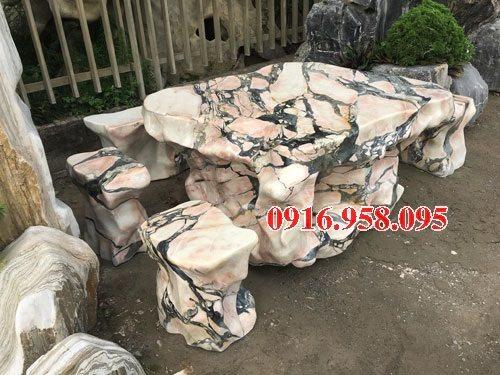 100 Mẫu bộ bàn ghế đá tự nhiên đẹp nguyên khối