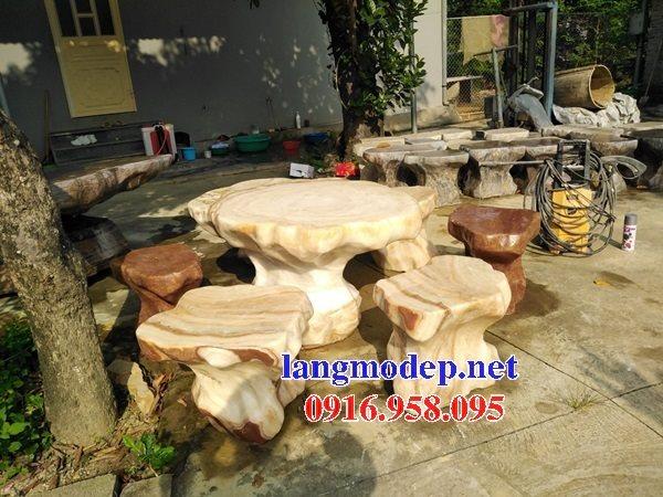 100 Mẫu bộ bàn ghế đá tự nhiên đẹp