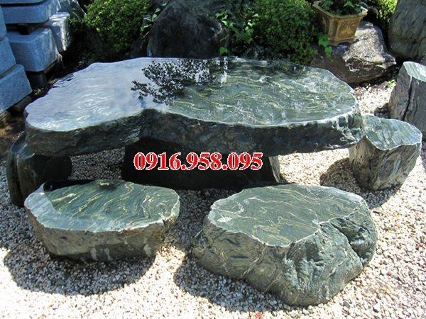 100 Mẫu bộ bàn ghế đá tự nhiên nguyên khối lắp đặt ngoài sân vườn đẹp bán tại đà nẵng