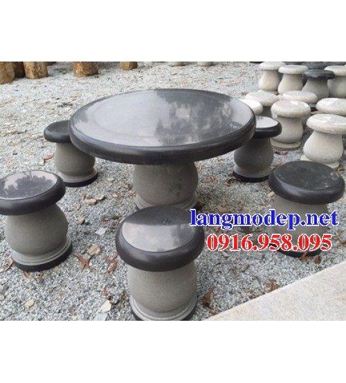 100 Mẫu bộ bàn ghế đá tự nhiên nguyên khối lắp đặt ngoài sân vườn đẹp bán tại điện biên