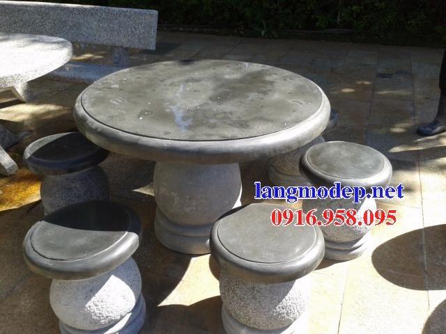100 Mẫu bộ bàn ghế đá tự nhiên nguyên khối lắp đặt ngoài sân vườn đẹp bán tại bình phước