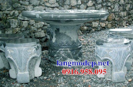 100 Mẫu bộ bàn ghế đá tự nhiên nguyên khối lắp đặt ngoài sân vườn đẹp bán tại bạc liêu