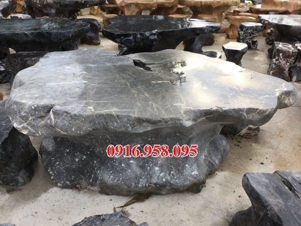 100 Mẫu bộ bàn ghế đá tự nhiên nguyên khối lắp đặt ngoài sân vườn đẹp bán tại bắc giang