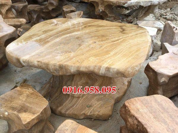 100 Mẫu bộ bàn ghế đá tự nhiên nguyên khối lắp đặt ngoài sân vườn đẹp bán tại cần thơ