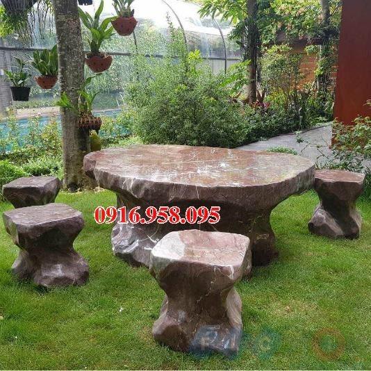100 Mẫu bộ bàn ghế đá tự nhiên nguyên khối lắp đặt ngoài sân vườn đẹp bán tại hà nội