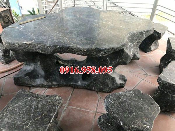 100 Mẫu bộ bàn ghế đá tự nhiên nguyên khối lắp đặt ngoài sân vườn đẹp bán tại hải dương