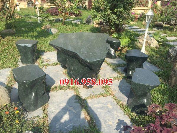 100 Mẫu bộ bàn ghế đá tự nhiên nguyên khối lắp đặt ngoài sân vườn đẹp bán tại hải phòng