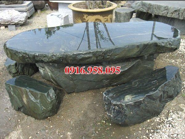 100 Mẫu bộ bàn ghế đá tự nhiên nguyên khối lắp đặt ngoài sân vườn đẹp bán tại lào cai