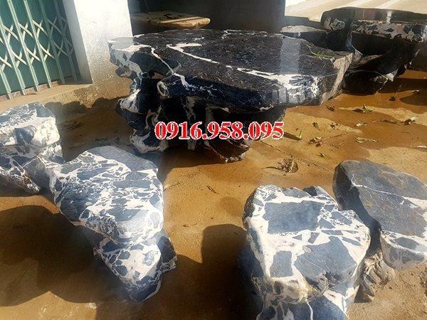 100 Mẫu bộ bàn ghế đá tự nhiên nguyên khối lắp đặt ngoài sân vườn đẹp bán tại lạng sơn