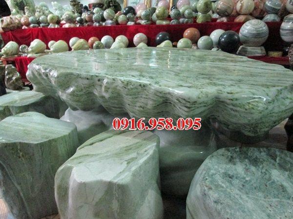 100 Mẫu bộ bàn ghế đá tự nhiên nguyên khối lắp đặt ngoài sân vườn đẹp bán tại nam định