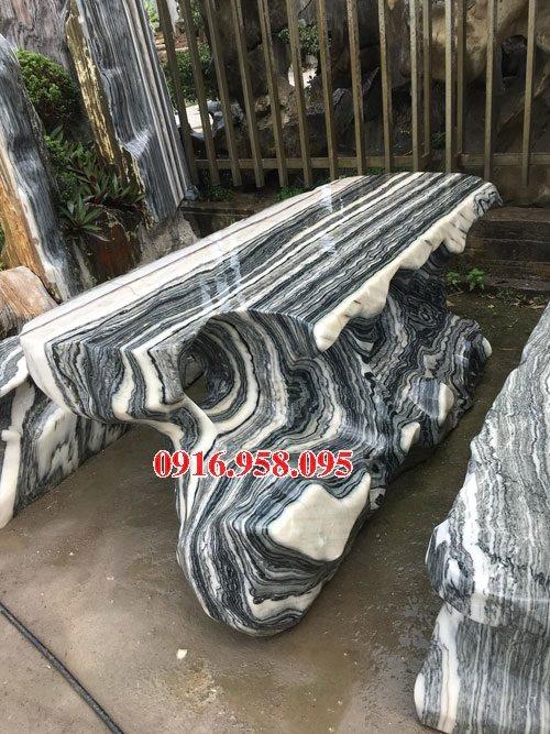 100 Mẫu bộ bàn ghế đá tự nhiên nguyên khối lắp đặt ngoài sân vườn đẹp bán tại ninh bình