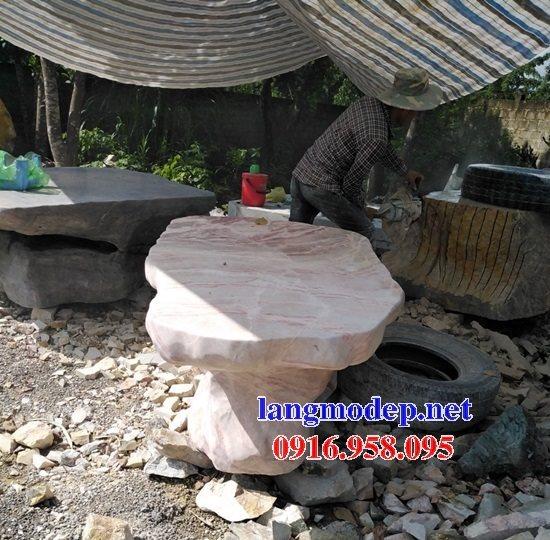 100 Mẫu bộ bàn ghế đá tự nhiên nguyên khối lắp đặt ngoài sân vườn đẹp bán tại ninh thuận