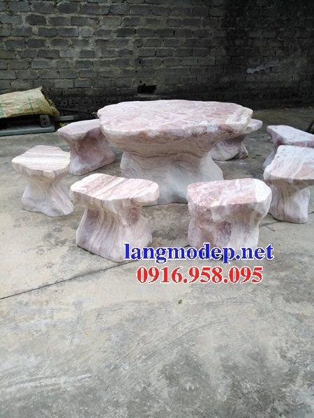 100 Mẫu bộ bàn ghế đá tự nhiên nguyên khối lắp đặt ngoài sân vườn đẹp bán tại phú thọ