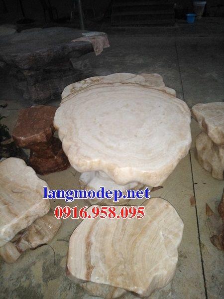 100 Mẫu bộ bàn ghế đá tự nhiên nguyên khối lắp đặt ngoài sân vườn đẹp bán tại phú yên